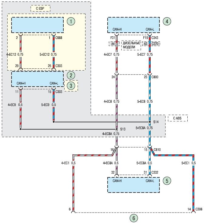 Схема 11в. Диагностический разъем Ford Fusion (Форд Фьюжн)