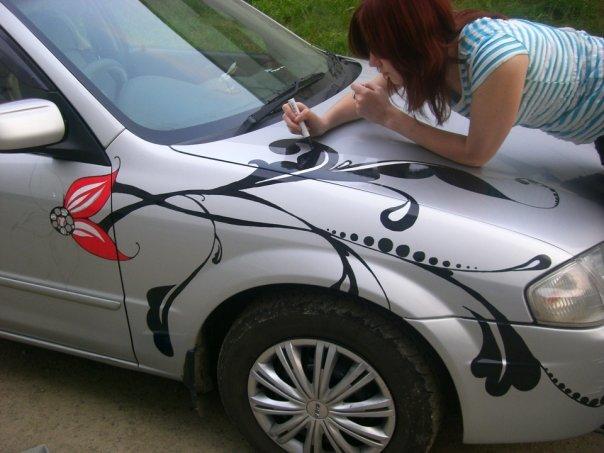 Рисунок на автомобиль своими руками