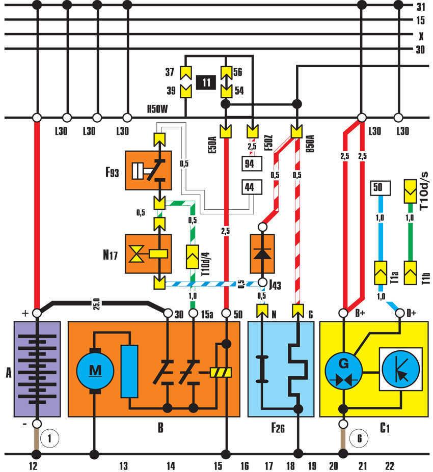 Электро схемы подключение генераторов на авто6
