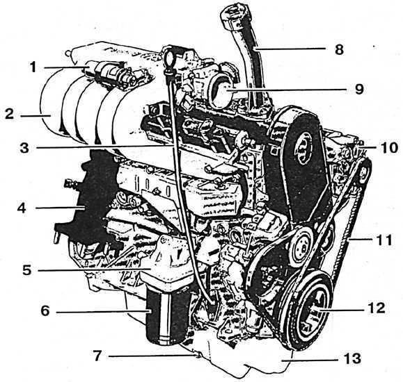 Схема двигателя фольксваген транспортер