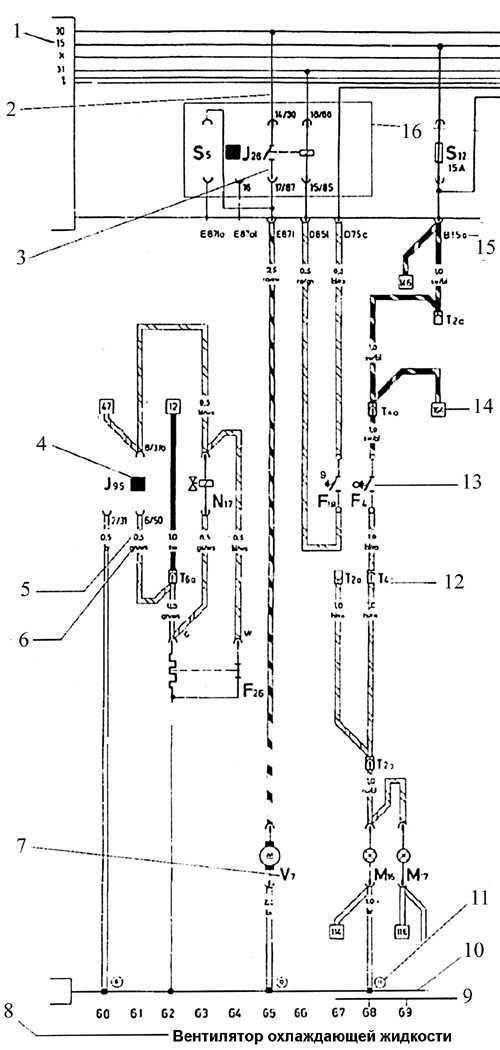 транспортер т4 электросхема дизель