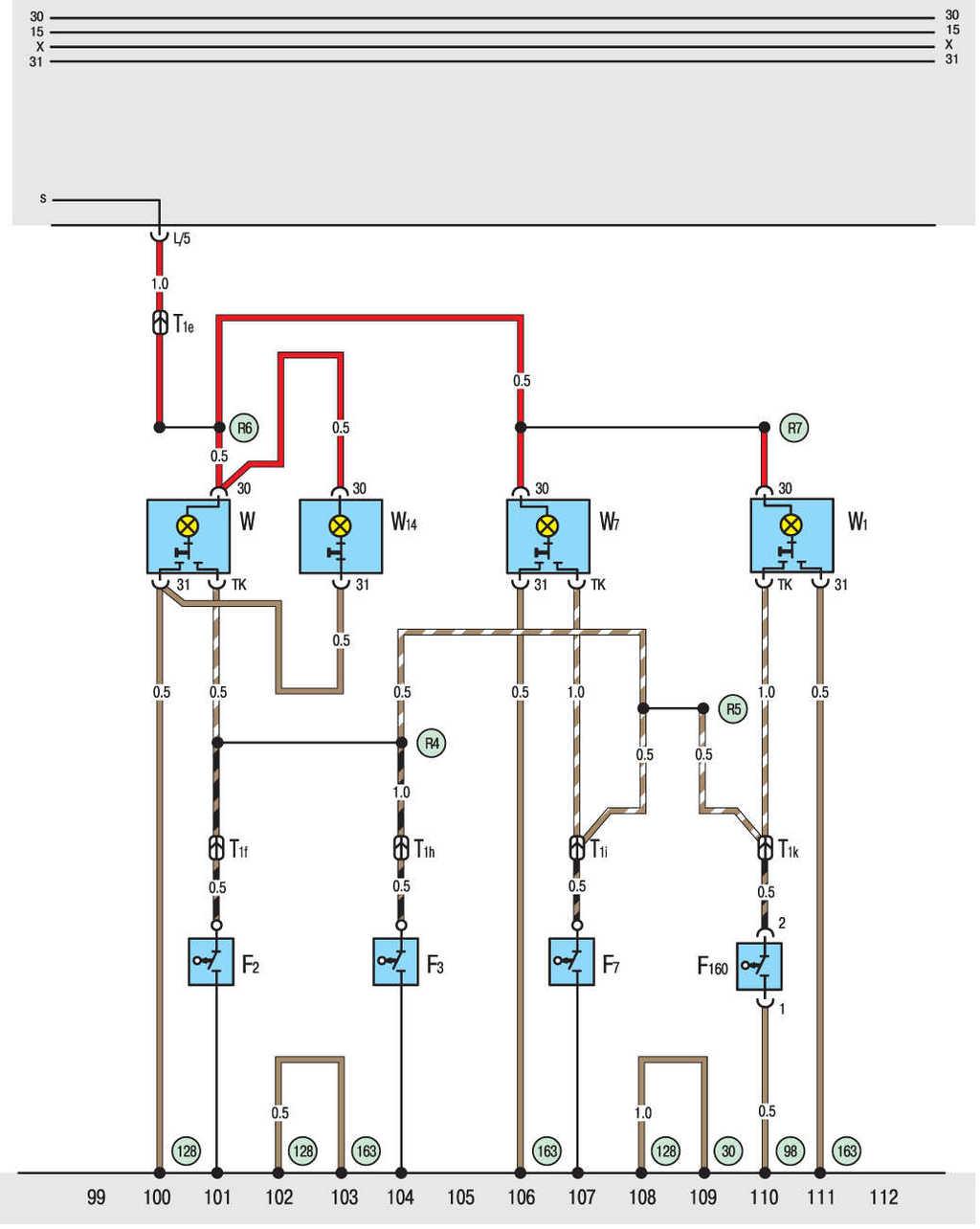 Фольксваген т4 acv 2.5 tdi схема системы охлаждения