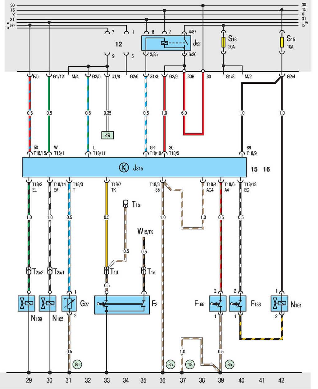 Схема зарядки фольксваген т4 дизель