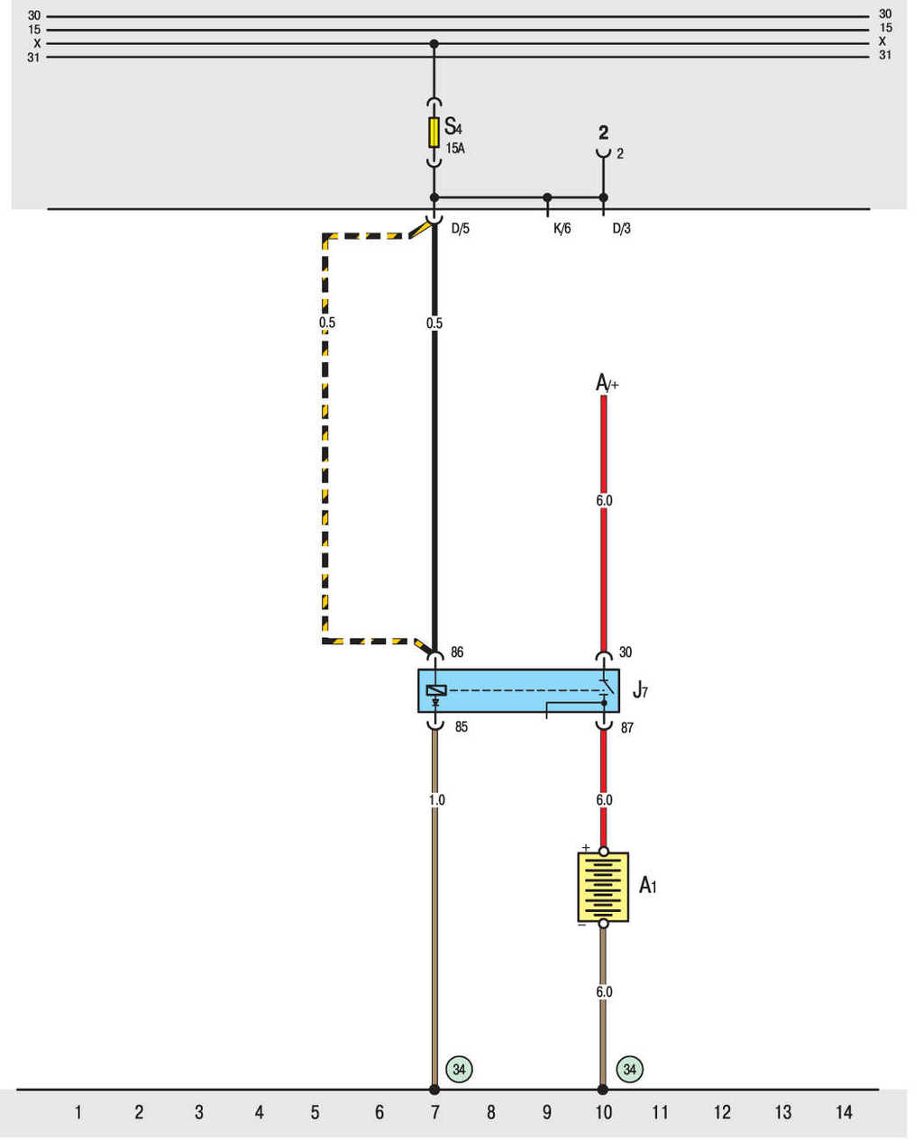 Схема подключения замка зажигания т4