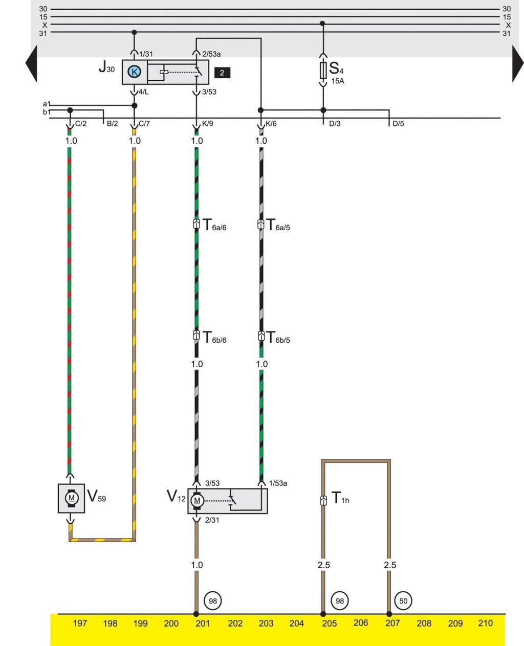 Схема блока предохранителей на фольксваген пассат б3