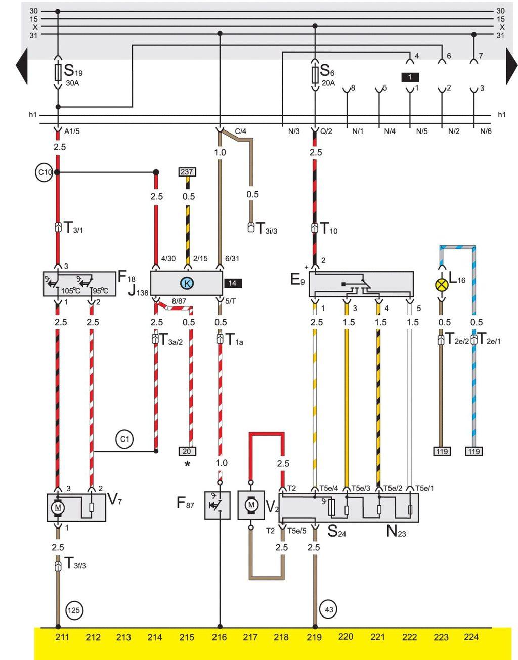 Схема вентилятора радиатора на калину