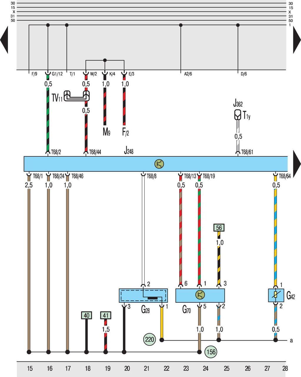 Схема стеклоподъемников электрических гольф 35
