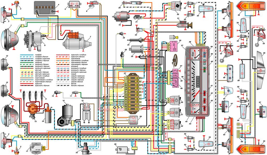 Схема жигулей