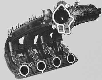 Замена уплотнительных колец впускного коллектора