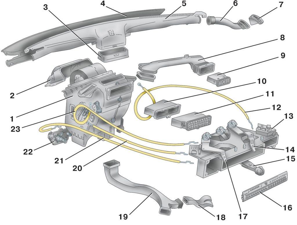 Схема подключения тросиков на печку ваз 21099