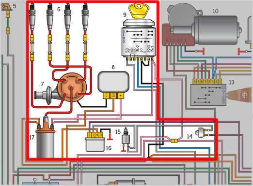 Схема электрооборудования автомобиля ГАЗ-3110 с двигателем ЗМЗ-402 ГАЗ 3110