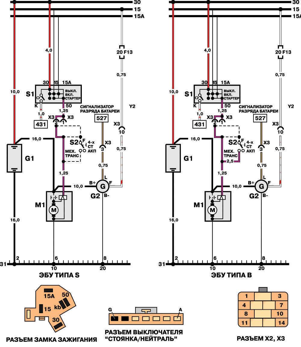 Схема зарядки дэу нексия.
