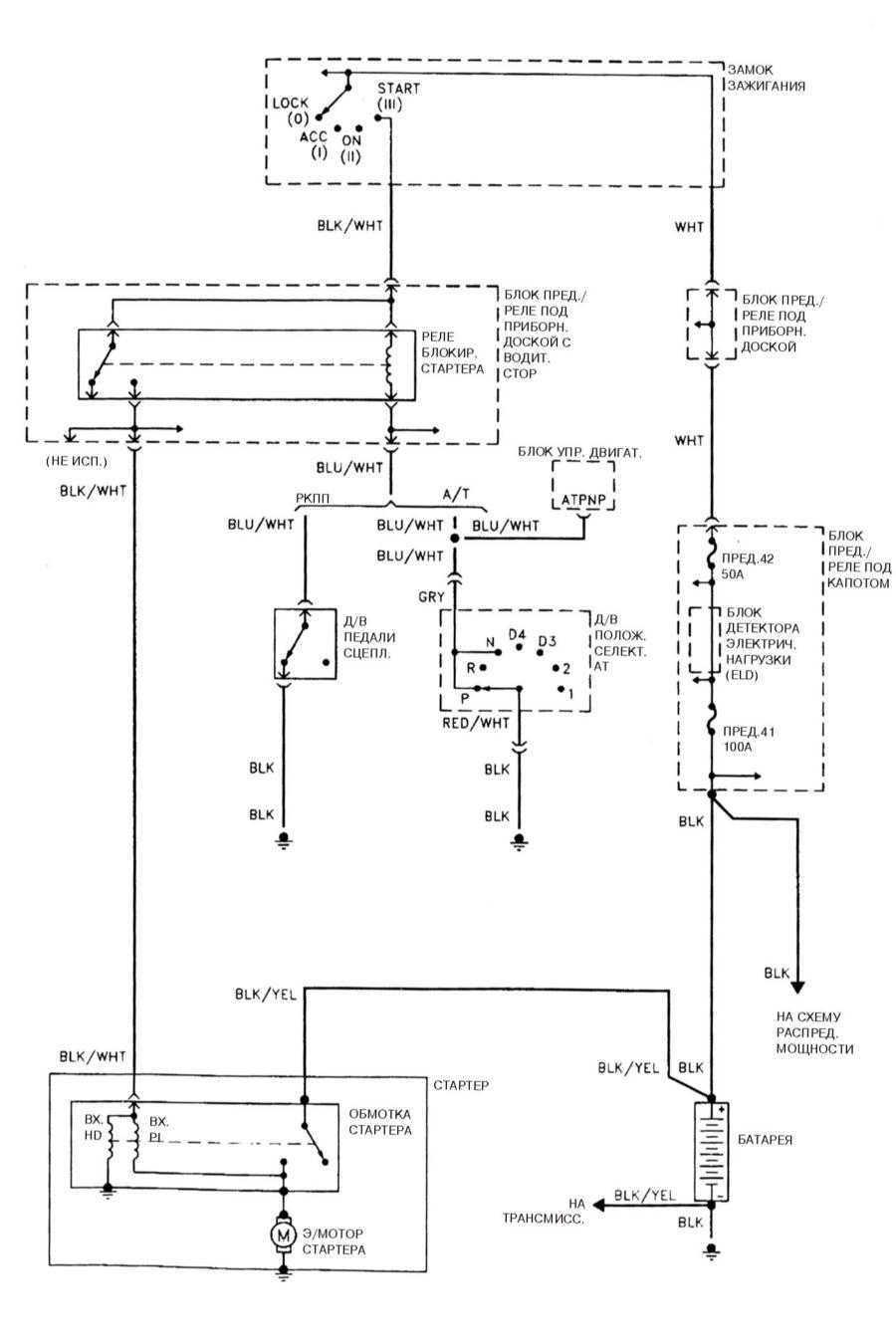 Схема трамблера хонда хрв