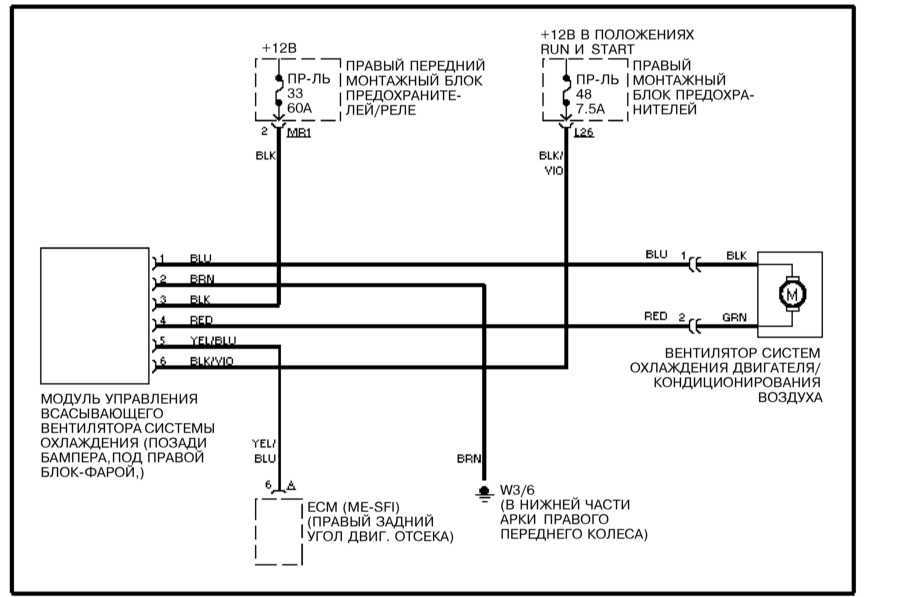 Схема подключения вентилятора охлаждения на мерседес вито
