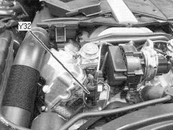 система рециркуляции отработавших газов мерседес 112 мотор
