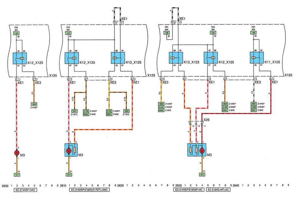Не работает вентилятор охлаждения опель астра h 150