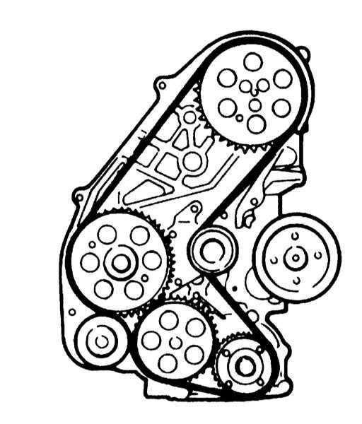 Схема прокладки приводного