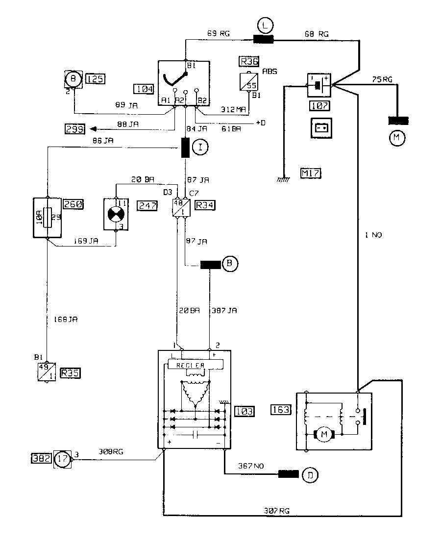электрическая схема renault 19