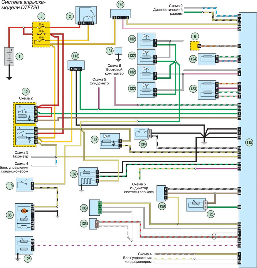 Схема проводки на рено меган 3